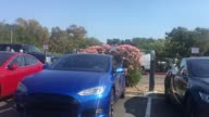 Exterior shots of Tesla Headquarters in Palo Alto
