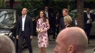 Exterior shots of the Duke and Duchess of Cambridge and Prince Harry arriving at the South Bank for a Heads Together event celebrating World Mental...