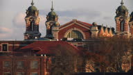Exterior shots of the Ellis Island Immigration Museum buildings the historic immigration station for the US on November 21 2014 in New York City