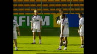 Exterior Shots of the England Football team training in the Stade BollaertDelelis during the FIFA World Cup 1998 at Stade BollaertDelelis on June 25...