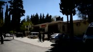 Exterior shots of the forensic medicine institute in Gaziantep where the body of Czech football player Frantisek Rajtoral is kept for autopsy on...