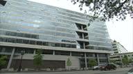 Exterior shots of the International Monetary Fund Headquarters building in Washington on May 1 2012 in Washington DC United States