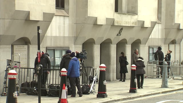 Exterior shots of the Lady Justice statue which sits on top of the Central Criminal Court commonly known as the Old Bailey after the street which it...