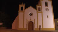 Exterior shots of the local church clock and bell on 26 October 2016 in Praia da Luz Portugal