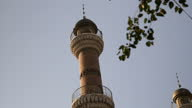 Exterior shots of the minaret tower of the Urumqi mosque in Xinjiang province on August 25 2014 in Urumqi China