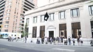 Exterior shots of the opening of Apple Incs new Upper East Side location in New York US on Saturday June 13 2015 Shots Various shots of customers...