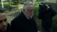 Exterior shots of the Reverend Paul Flowers former Chairman of the CoOp Banking Group arriving at Stainbeck Police station to answer bail on alleged...