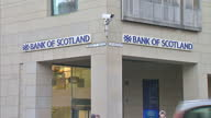 Exterior shots of the Royal Bank of Scotland branch on December 11 2013 in Edinburgh Scotland