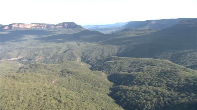Exterior shots of The Three Sisters rock formation in the Blue Mountains close to the town of Katoomba New South Wales