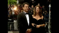 Exterior shots of Tom Hanks actor arriving at Apollo 13 Premiere on 7 September 1995 Hammersmith England