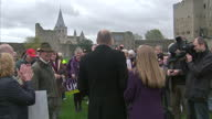 Exterior shots of UKIP leader Nigel Farage speaking to party faithful on a visit to Rochester on November 08 2014 in Rochester England