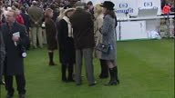 Exterior shots of Zara Phillips speaking with friends in the winner's enclosure at the Cheltenham Festival Zara Phillips at the Cheltenham Festival...