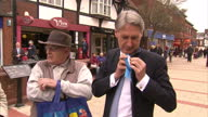 Exterior shots Philip Hammond Foreign Secretary campaigning in Northwich with Graham Evans on April 17 2015 in Northwich England