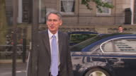 Exterior shots Philip Hammond MP the new Defence Secretary arrives at the MOD greets General Sir Nick Houghton Vice Chief of the Defence Staff Ursula...