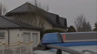 Exterior shots police outside Germanwings pilot Andreas Lubitz house in Montabaur on March 26 2015 in Montabaur Germany