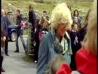 Exterior shots Prince Charles Camilla Duchess of Cornwall greet well wishers on the Isle of Harris Interior shots Prince Charles Camilla take turns...