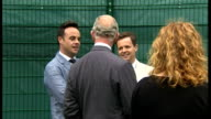 Exterior shots Prince Charles talking with Ant and Dec Princes Trust Ambassadors whilst on visit to HMP Parc Bridgend on July 06 2015 in Cardiff Wales