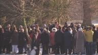 Exterior shots Prince Harry Prince Philip walks through crowds as they arrive for the traditional Christmas morning service at Sandringham Royals...