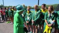 exterior shots Queen speaking Australian Women's hockey team