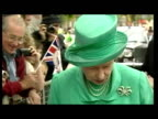 Exterior shots Queen walkabout in Windsor with officials meeting and greeting crowds Queen Elizabeth II Golden Jubilee Windsor on June 01 2002 in...
