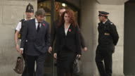 Exterior shots Rebekah Brooks former exNews International chief executive walks out of the Old Bailey and gets into waiting taxi Rebekah Brooks Andy...