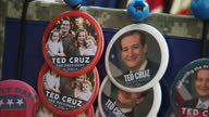 Exterior shots Senator Ted Cruz merchandise on sale for supporters to purchase outside Republican Presidential campaign rally on January 13 2016 in...