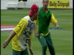 Exterior shots Shane Warne training with Austrlia cricket team at Lord's during the Cricket World Cup Shane Warne Cricket Training at Lord's on May...