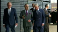 Exterior shots showing Prince Charles Prince of Wales arriving at Invictus Games opening ceremony and greeting his two sons Prince William Duke of...