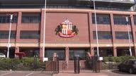 Exterior shots Stadium of Light stadium home to Sunderland FC highlighting club emblem bronze statue Sunderland FC Stadium Exteriors on April 01 2013...