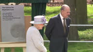 Exterior shots The Queen and Prince Philip speak to zoo keepers on 11 April in Dunstable United Kingdom