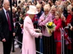 Exterior shots the Queen meets well wishers as she tours Margate Old Town The Queen Visits Margate on November 11 2011 in Margate England