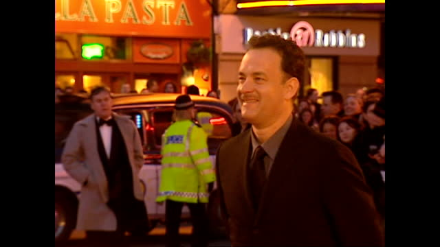 Exterior shots Tom Hanks actor on red carpet at the BAFTA Awards on February 25 2001 in London England
