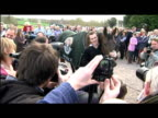 exterior shots Tony McCoy posing for photocall in stable yard with winning horse Don't Pust It It was an emotional day at Aintree yesterday for the...