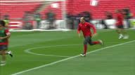 Exterior shots Wayne Rooney training with Manchester United squad at Wembley stadium ahead of the 2011 UEFA Champions League Final on May 27 2011 in...