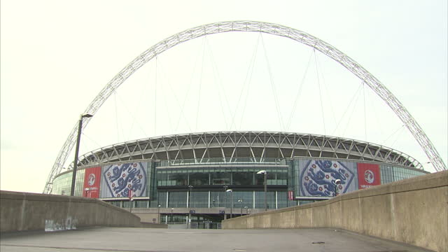 Exterior shots Wembley stadium walkway Wembley Stadium Shots on September 07 2011 in London England