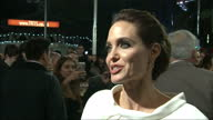 Exterior soundbite with Angelina Jolie speaking about her admiration for the late Louis Zamperini who inspired her to make the film 'Unbroken' about...