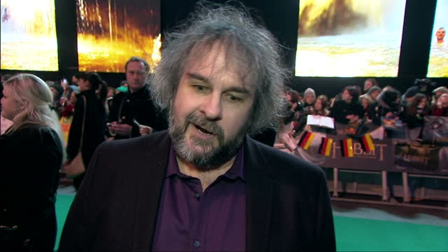 Exterior soundbite with director Peter Jackson speaking about it being a 'once in a lifetime' experience to have worked on such a successful series...