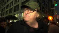 Exterior soundbite with Michael Moore Filmmaker he says 'Yesterday we had our Brexit except America decided to leave America we've never lived up to...
