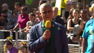 Exterior speech by the Mayor of London Sadiq Khan as he opens the Notting Hill Carnival on 27th August 2017 London England