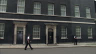 Exterior view of the famous number 10 Downing Street location on June 24 2014 in London England