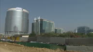 Exterior wide shot of Delhi's financial district Exterior shot of building housing American Express Oracle and Cushman Wakefield Exterior shots of...