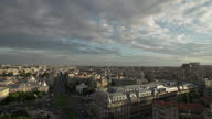 Exterior wide shots of Bucharest City skyline shot from a tall building on February 07 2014 in Bucharest Romania