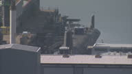 Exterior wide shots of HMNB Faslane naval base on the River Clyde on March 11 2014 in Argyll and Bute Scotland