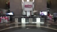Exteriors lobbies and signage of the headquarters of Astro Malaysia Holdings Bhd in Kuala Lumpur Malaysia on Monday July 7 2015 Shots wide shot of...