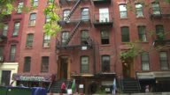 WPIX Exteriors Of Brick Apartment Buildings In New York During The Day on December 17 2012 in New York New York