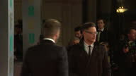Exteriors of David Beckham on the red carpet at the BAFTA awards on February 08 2015 in London England