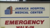 Exteriors of Jamaica Hospital Emergency Entrance WalkIn ER