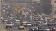 Exteriors of traffic moving on motorway on January 28 2015 in Cairo Egypt