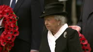 Exteriro shots of Queen Elizabth II Prince Philip Duke of Edinburgh Prince William Duke of Cambridge at a service to mark 100 years since the...