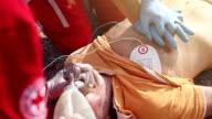External heart massage by medical emergency team